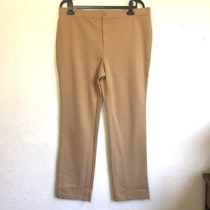 Isaacmizrahilive Tan Pants 18W